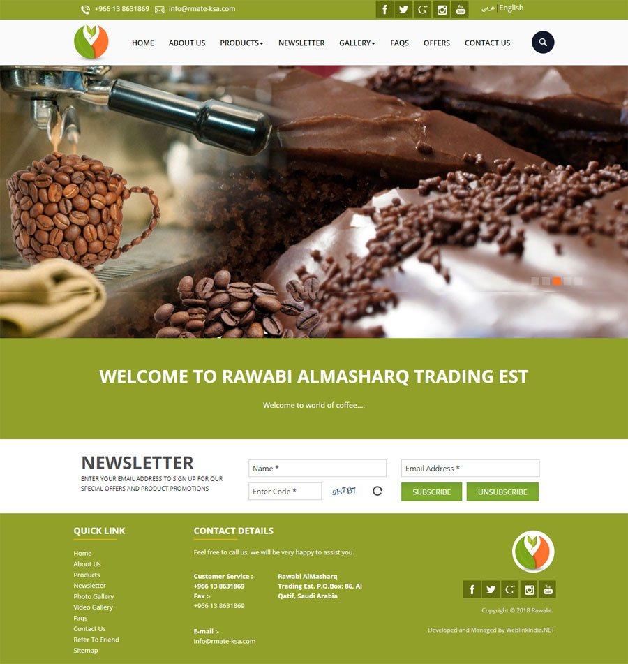 Rawabi AlMasharq Trading Est Saudi Arabia Web Design