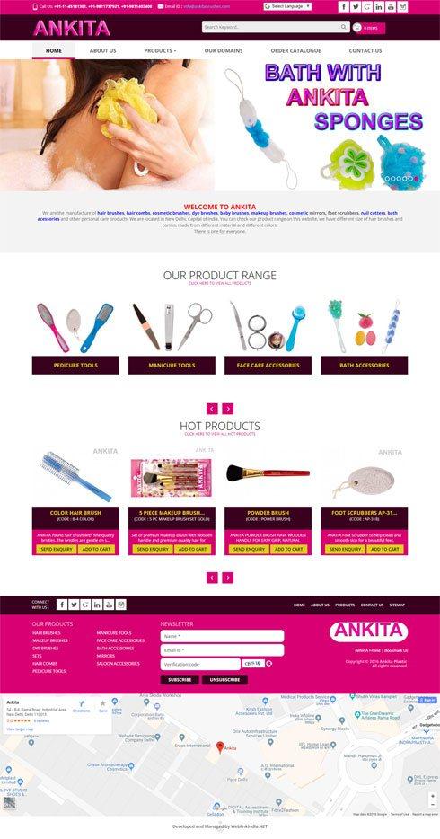 Ankita Brushes India Web Design