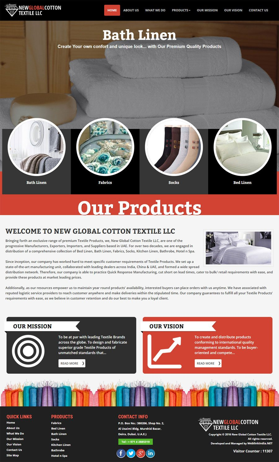 New Global Cotton Textile United Arab Emirates Web Design