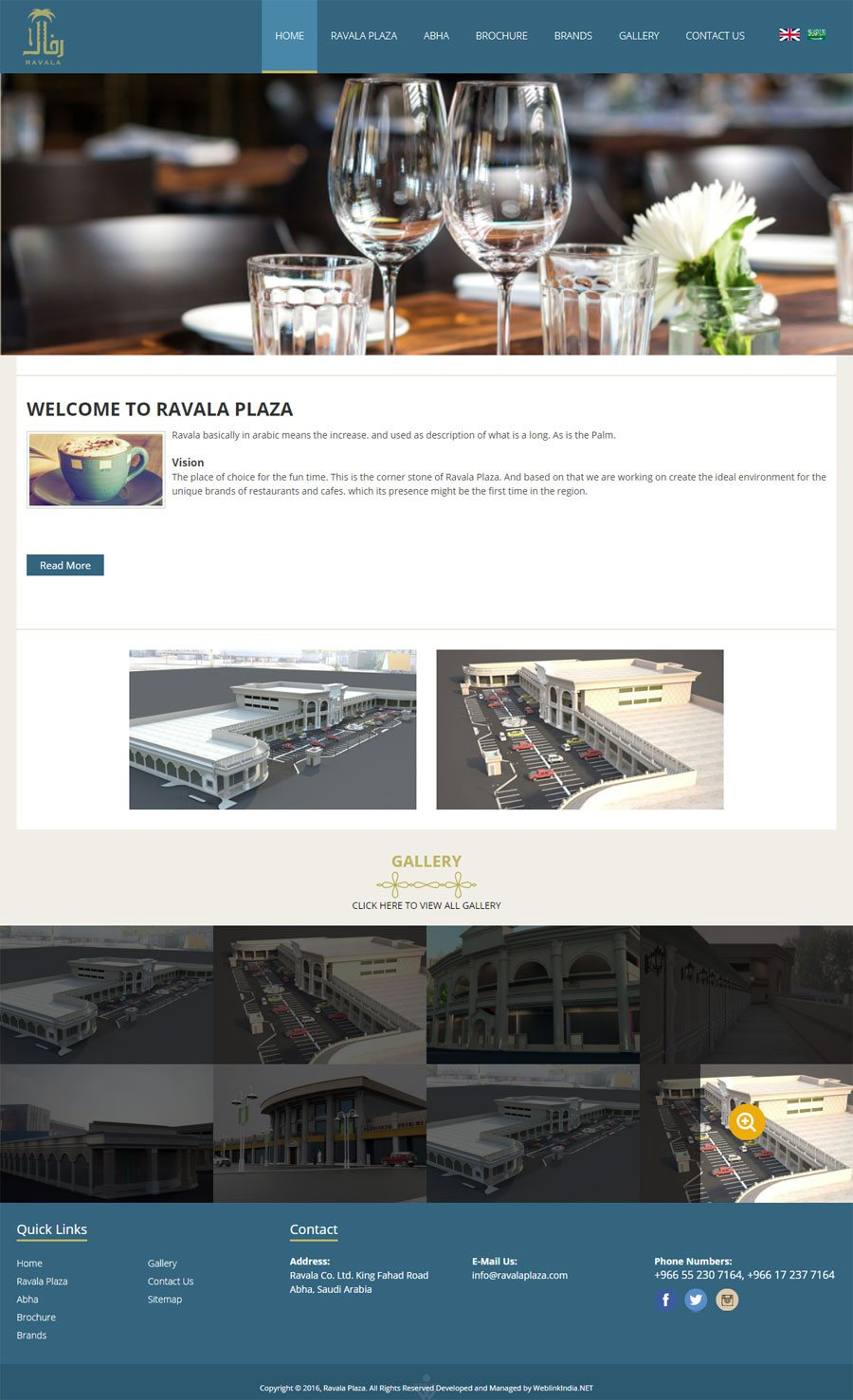 Rvala Plaza Saudi Arabia Web Design