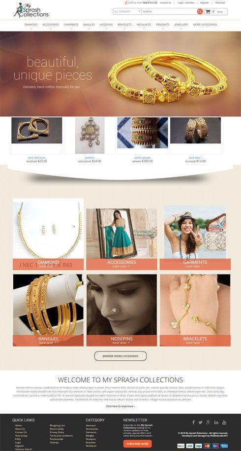 MySprash Collections India Web Design