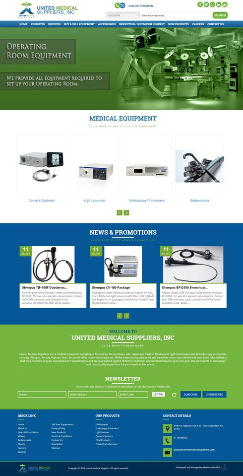 United Medical Suppliers United States Web Design