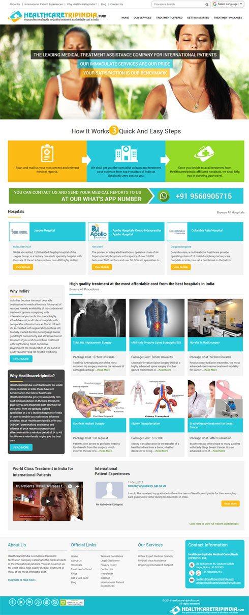 Health Care Trip India India Web Design