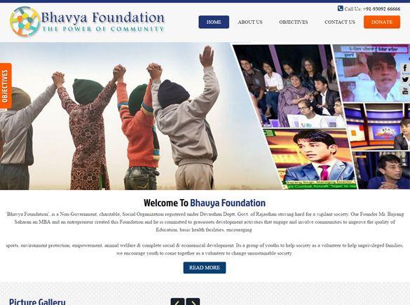 Bhavya Foundation India Web Design