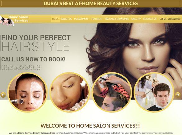 Home Salon Service United Arab Emirates Web Design