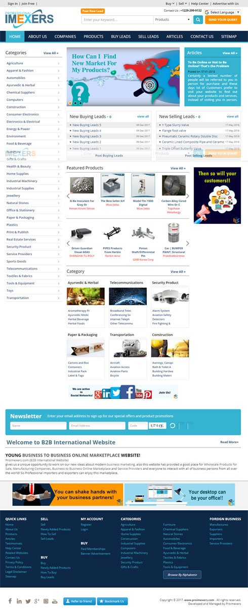 B2B Iran India Web Design