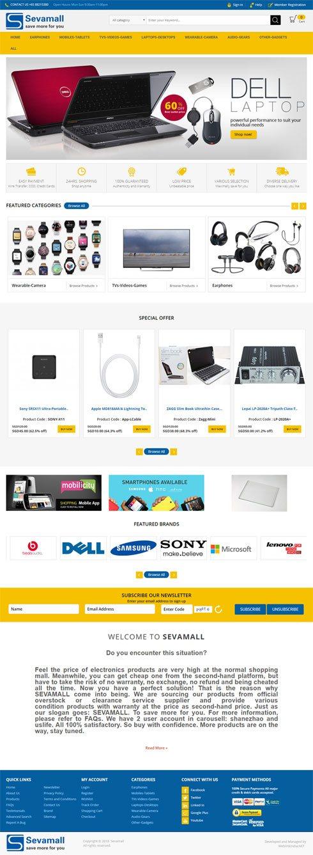SEVAMALL Singapore Web Design