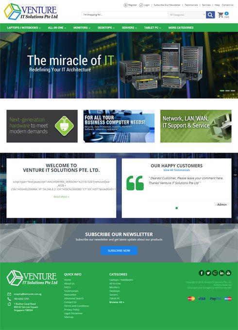Venture IT Solutions India Web Design