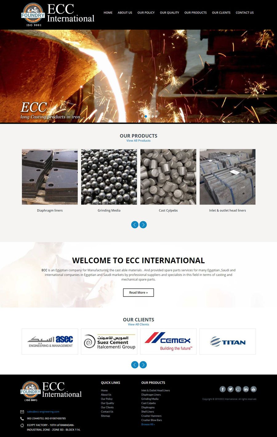 ECC INTERNATIONAL Egypt Web Design