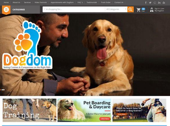 My Dog Dom. Kuwait Web Design