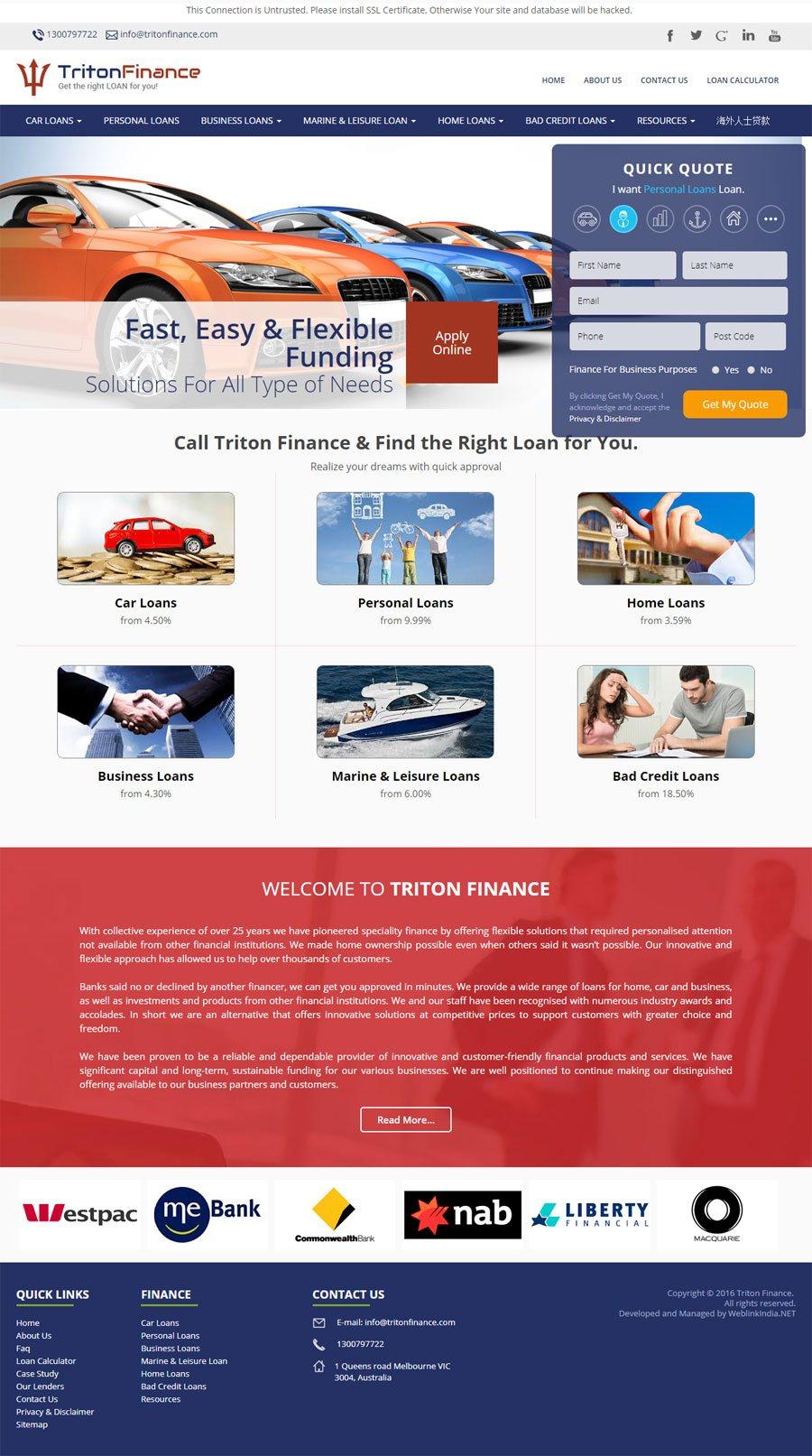 Triton Finance Australia Web Design