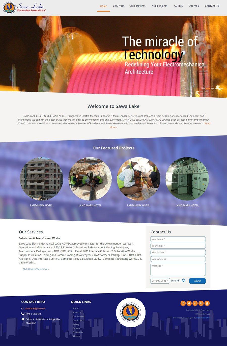 Sewa lake United Arab Emirates Web Design