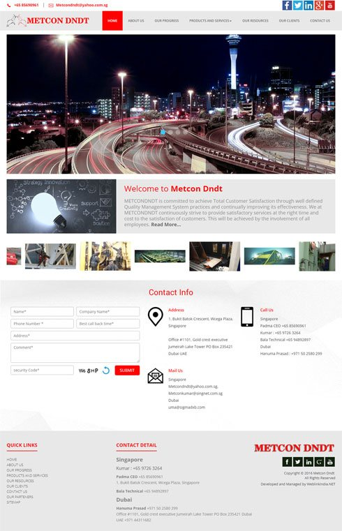 Metcon Dndt Singapore Web Design