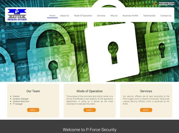 P-Force Security Singapore Web Design