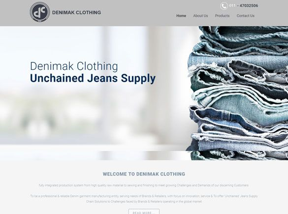 Denimak Clothing India Web Design