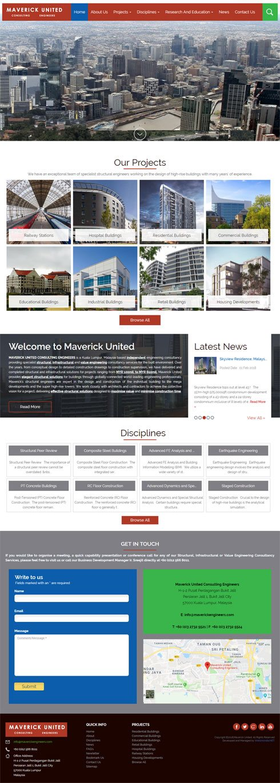 MAVERICK UNITED CONSULTING ENGINEERS Malaysia Web Design