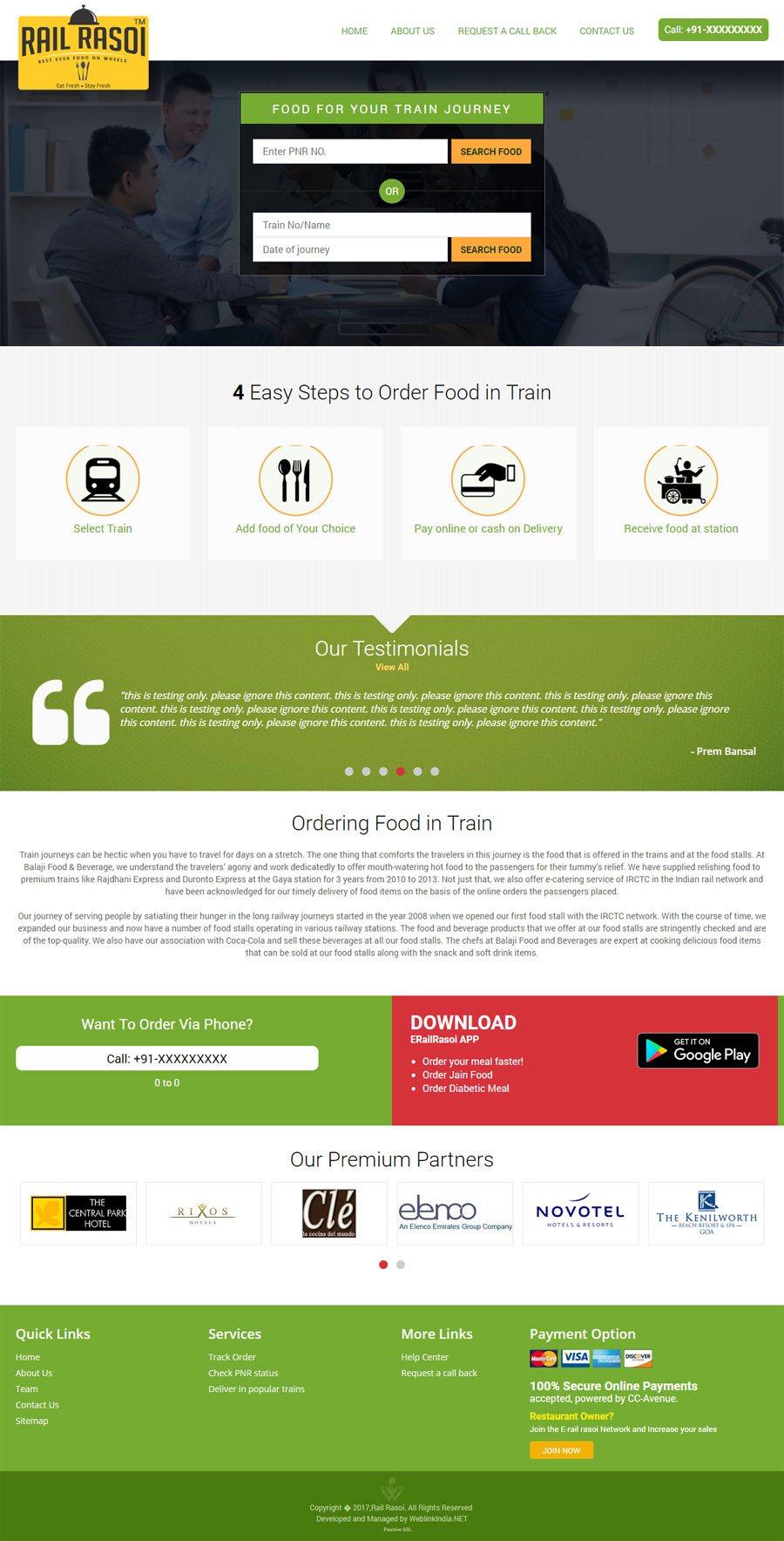 erailrasoi India Web Design