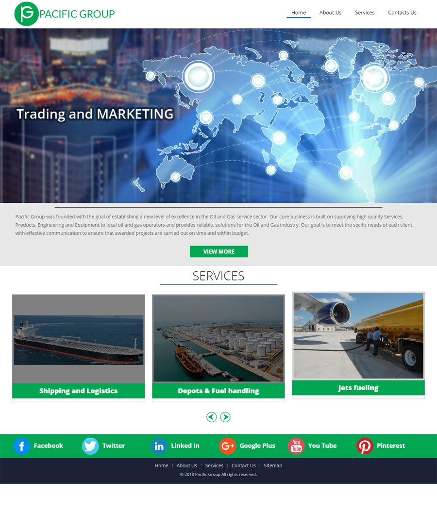 Pacific Group Saudi Arabia Web Design