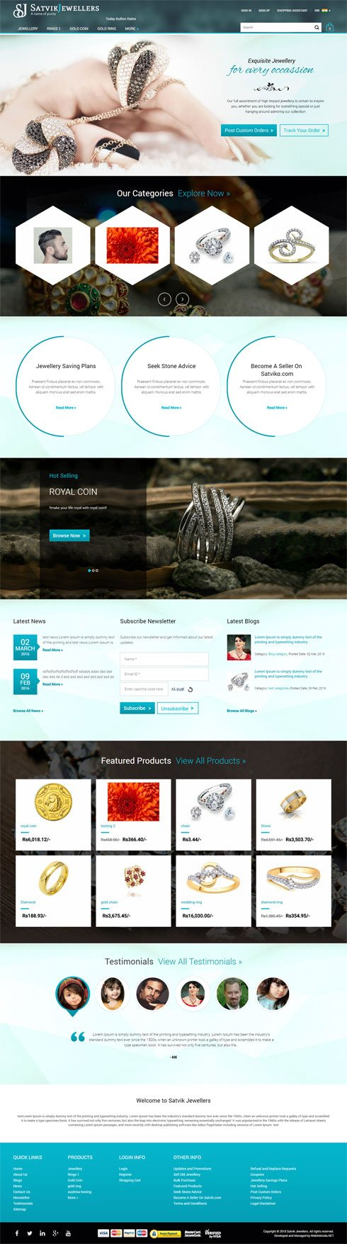Satvik Jeweller  India Web Design