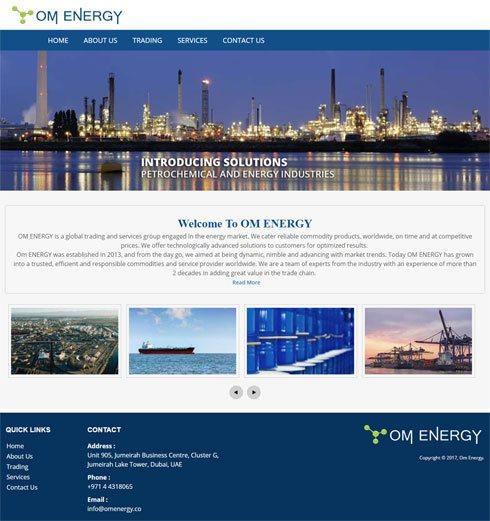 OM ENERGY United Arab Emirates Web Design
