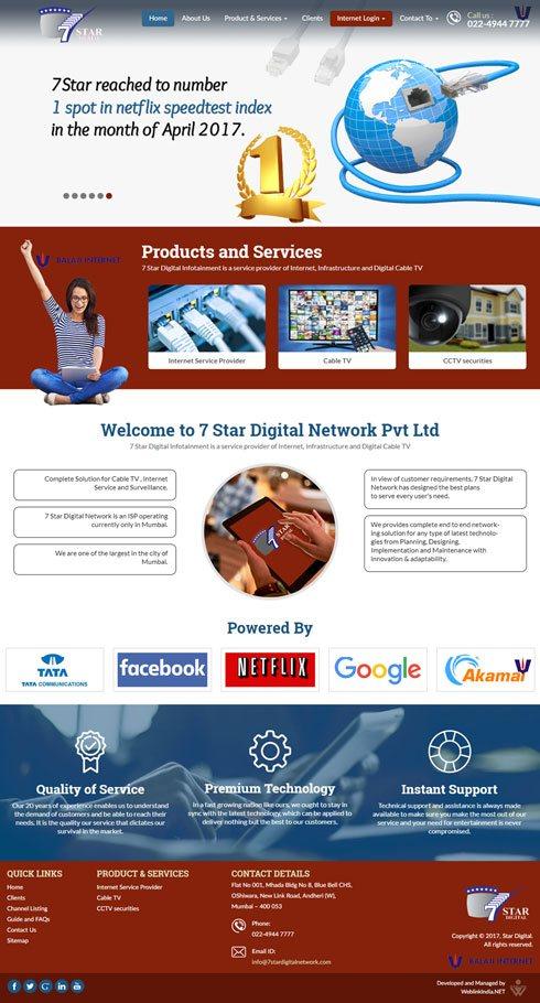 7 Star Digital Network India Web Design