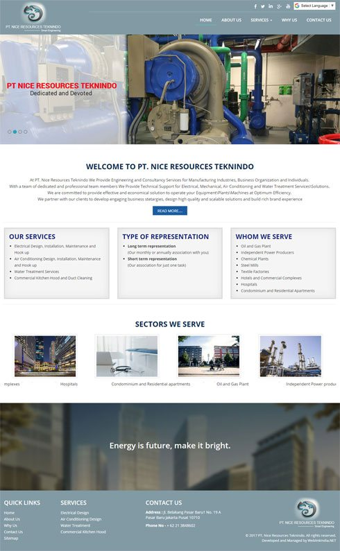 PT. NICE RESOURCES TEKNINDO - Web Design Portfolio