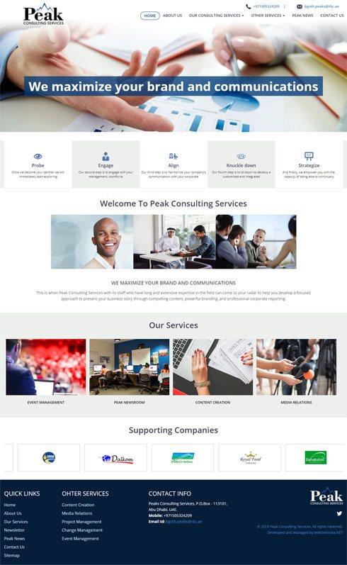 Peak Consulting Services Saudi Arabia Web Design