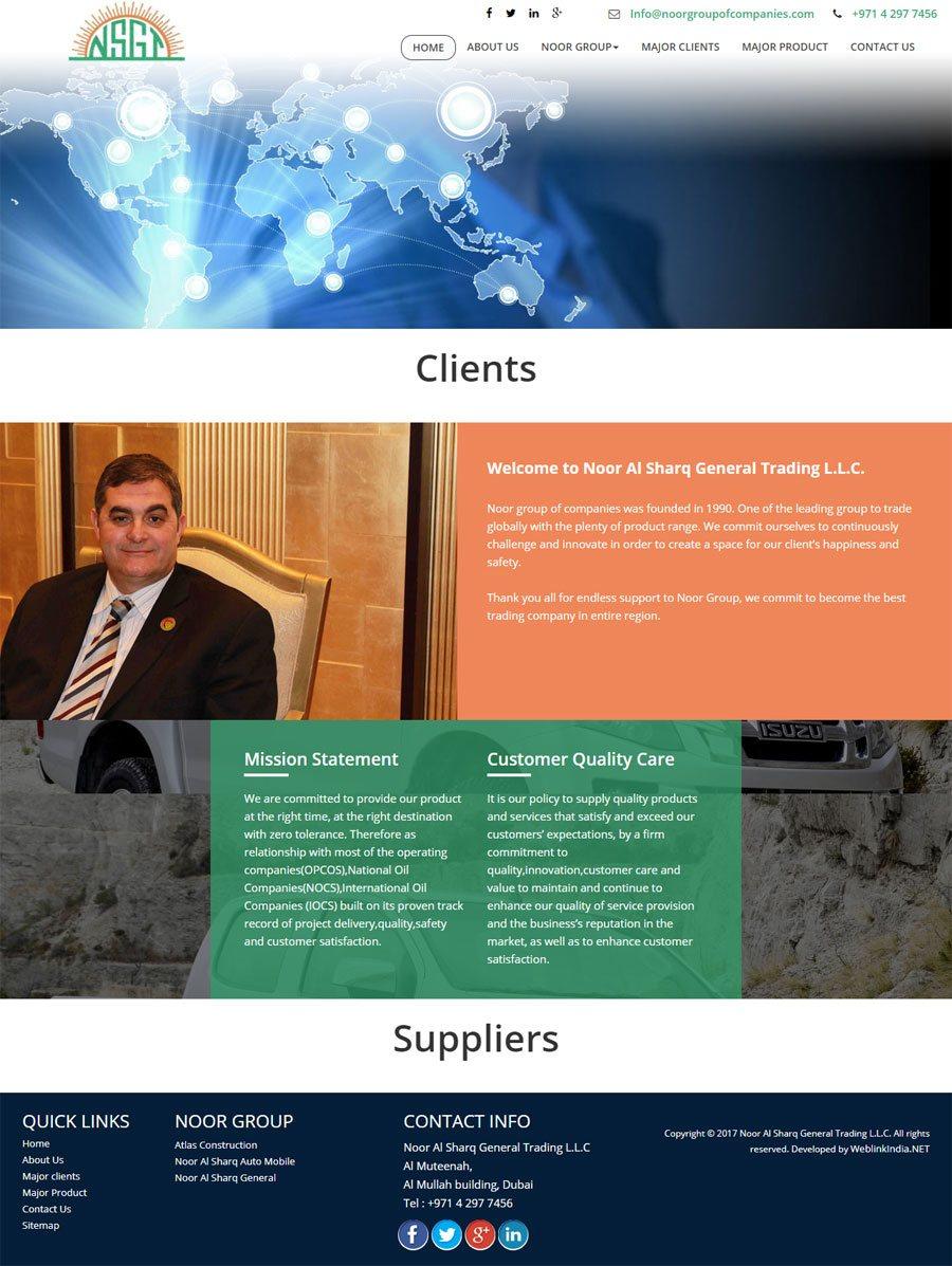 Noor Al Sharq General Trading L.L.C United Arab Emirates Web Design