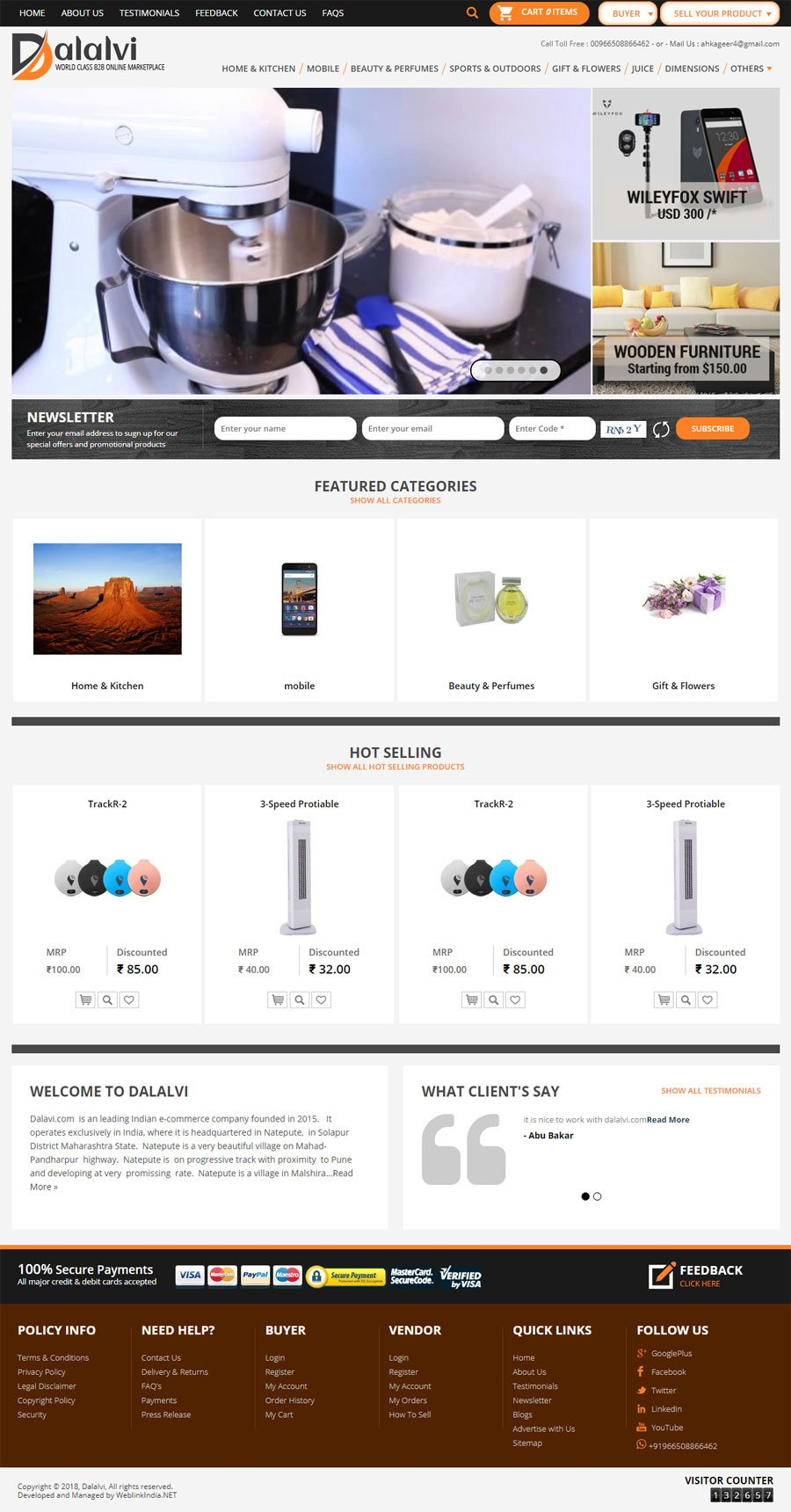 DALALVI Saudi Arabia Web Design