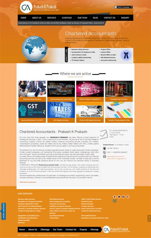 PKP Consult India Web Design