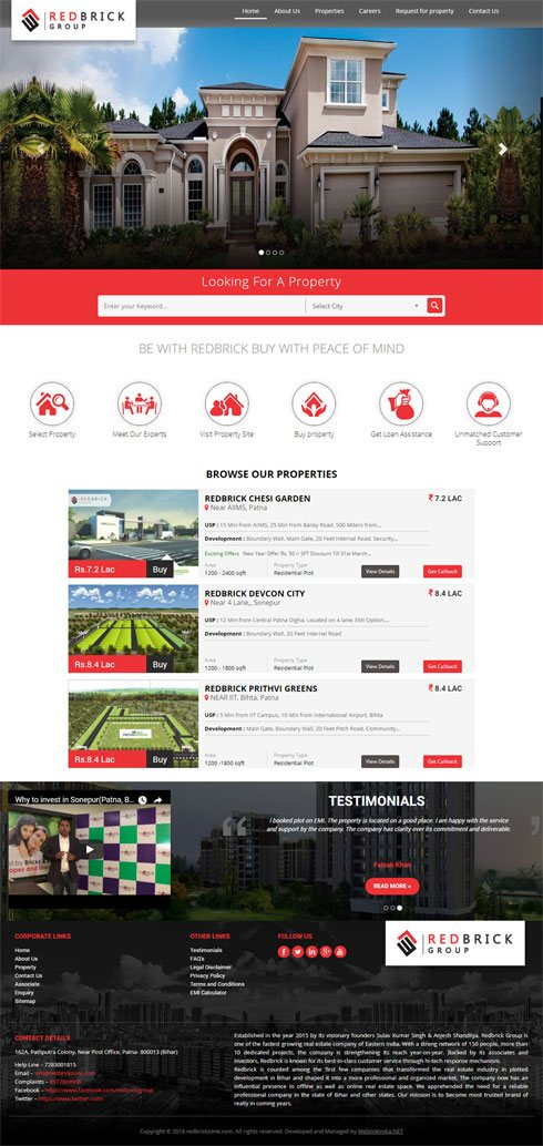 Redbrick Group India Web Design