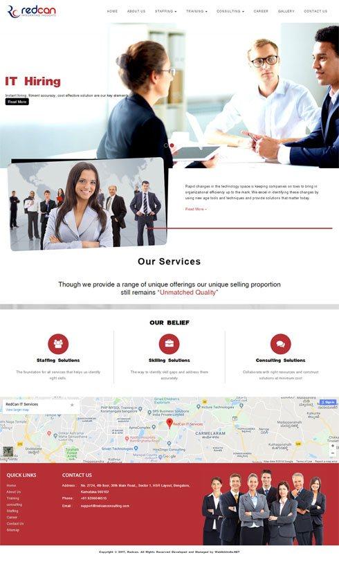 RedCan IT Services India Web Design