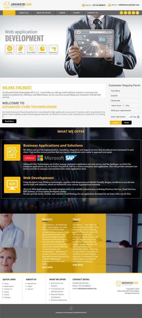 Advanced Cube Technologies United Arab Emirates Web Design