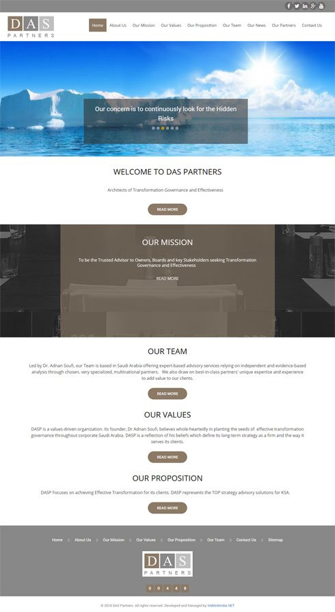 DAS Partners Saudi Arabia Web Design