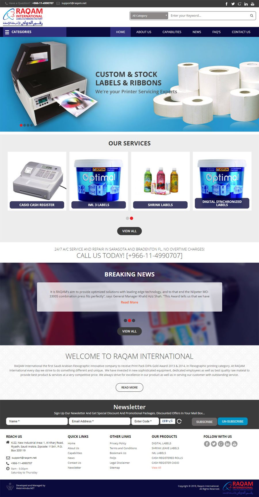 Raqam International Saudi Arabia Web Design