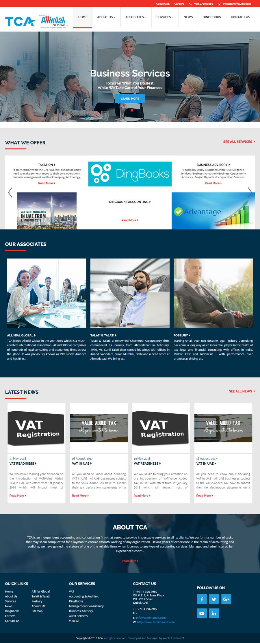 TCA United Arab Emirates Web Design