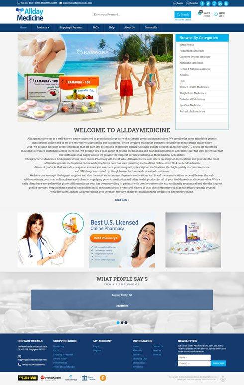 Alldaymedicine United States Web Design