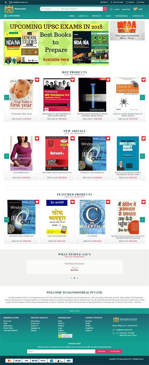 Mansoondeal India Web Design