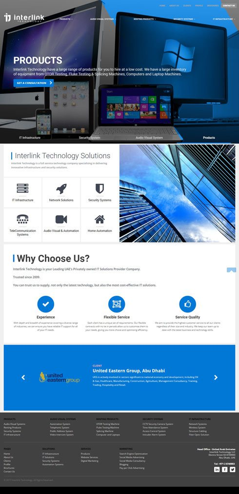 Interlink Technology United Arab Emirates Web Design
