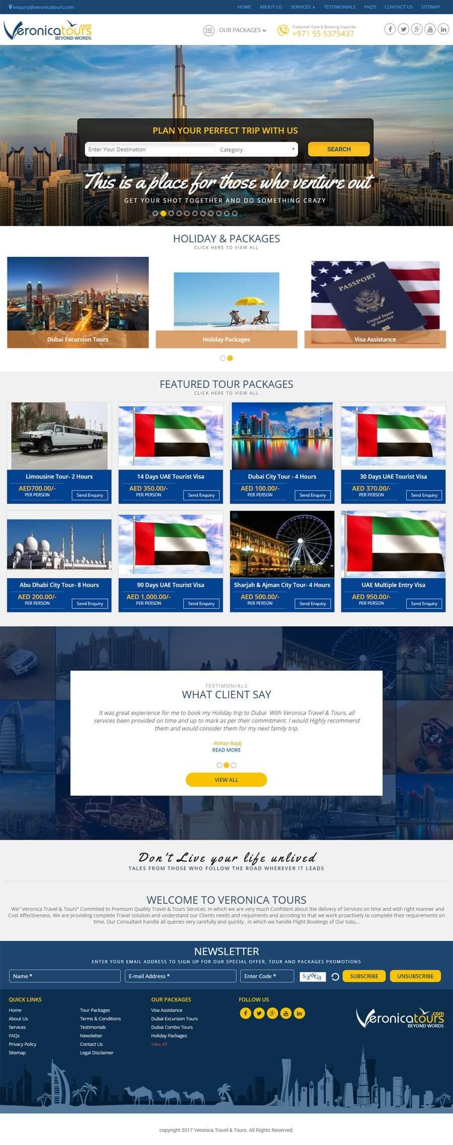 VERONICA TRAVEL & TOURS - Web Design Portfolio