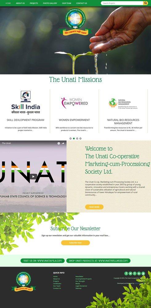 Unati India Web Design