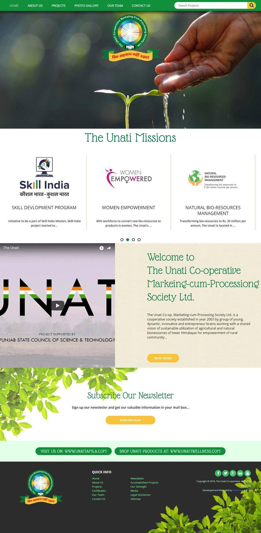 UNATI - Web Design Portfolio
