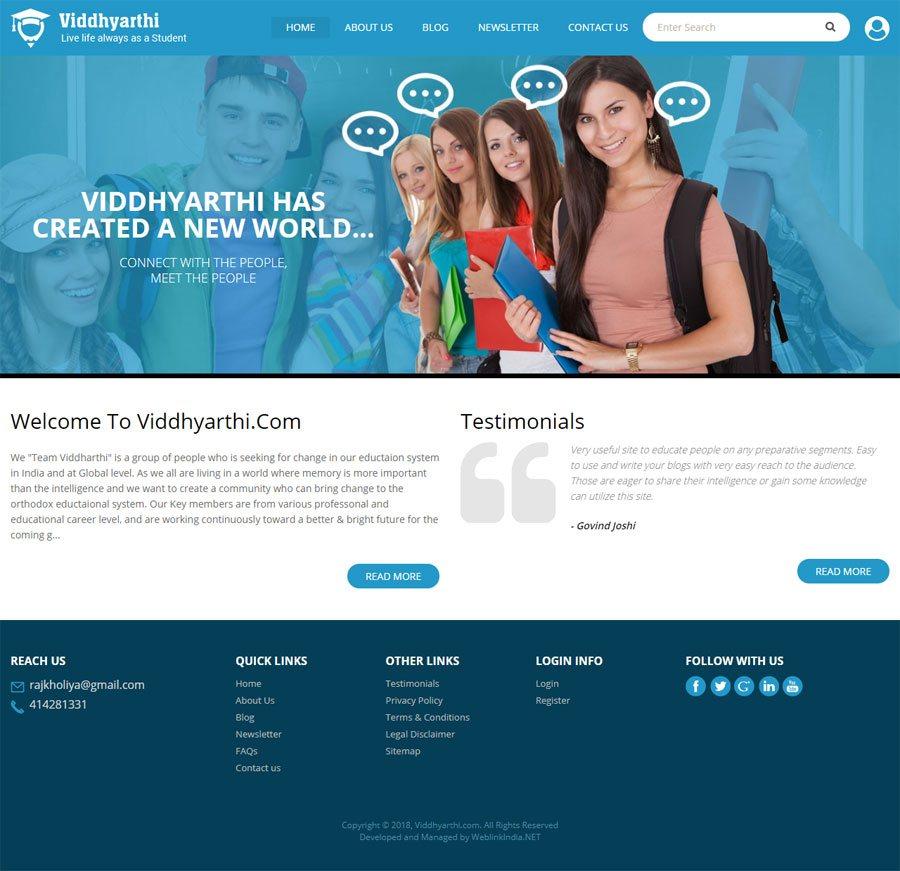 VIDDHY ARTHI - Web Design Portfolio