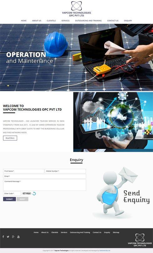 Vapcom Technologies India Web Design