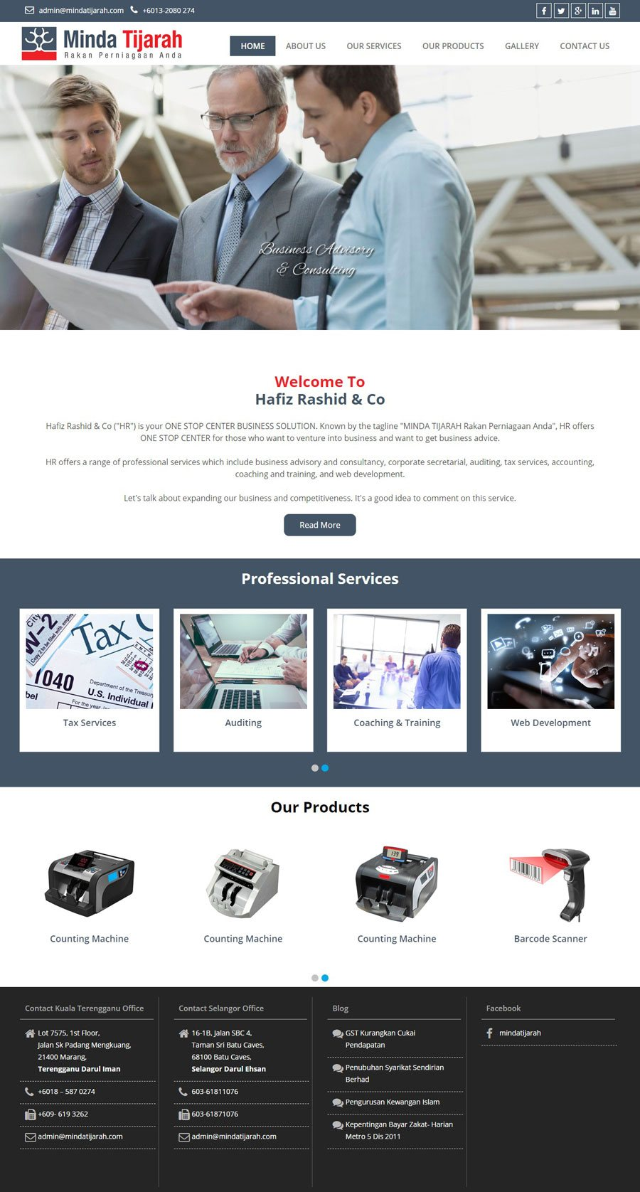 MINDA TIJARAH - Web Design Portfolio
