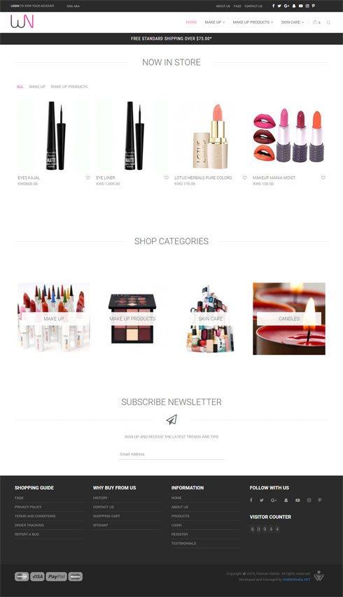 Woman Nation Kuwait Web Design