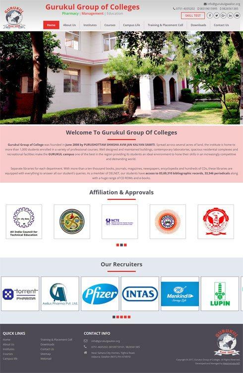 Gurukul Group of College India Web Design