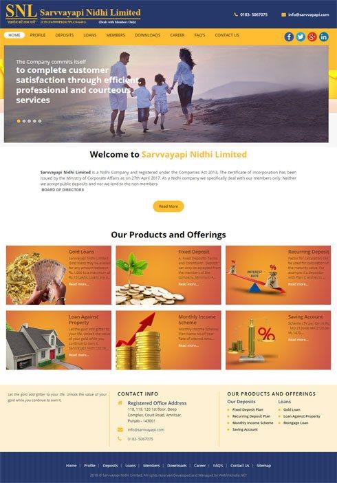 Sarvvayapi Nidhi Limited India Web Design
