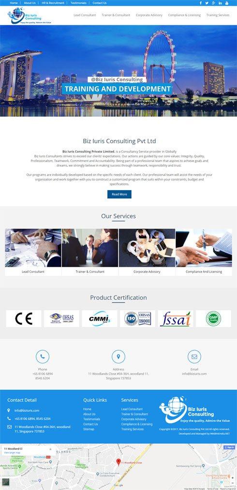 Biz Iuris Consulting India Web Design
