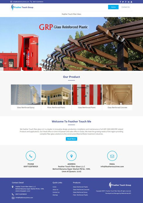 Feather Touch United Arab Emirates Web Design